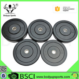 China Two Kinds of Logo Barbell Solid Rubber Bumper Plates supplier