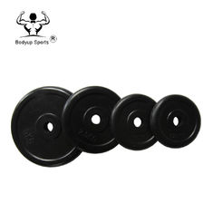 China Rubber Coated Fitness Weight Plates Straight Edge For Crossfit Power Training supplier