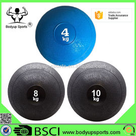 China Crossfit Soft Slam Ball , Soft Weighted Medicine Ball PVC With Sand Material supplier