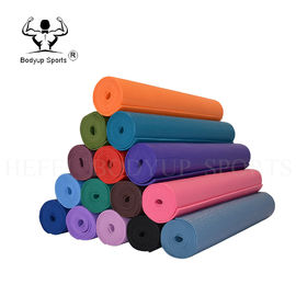 Anti Slip Soft Textile Yoga Exercise Mat PVC Material With Elastic Memory