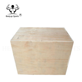 Plywood Crossfit Essential Equipment Wooden Plyo Box With Embossing Handling
