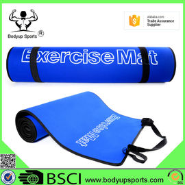 Durable Yoga Exercise Mat With Carrying Strap Eco Friendly EVA Material